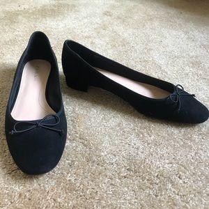 ZARA Black Short Heels with Bow!!